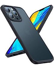 TORRAS 半透明 iPhone 13 Pro Max 用 ケース 超耐衝撃 米軍MIL規格取得 マット感 黄ばみなし ストラップホール付き 画面保護 レンズ保護 6.7インチ アイフォン 13 Pro Max 用 カバー マットブランク