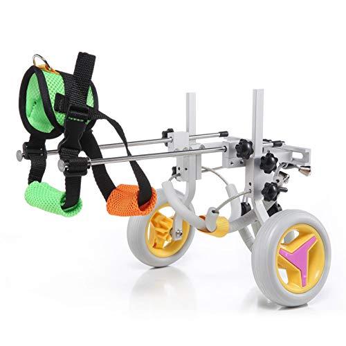 Silla de ruedas para mascotas, ruedas ajustables para caminar Silla de ruedas para perros,...