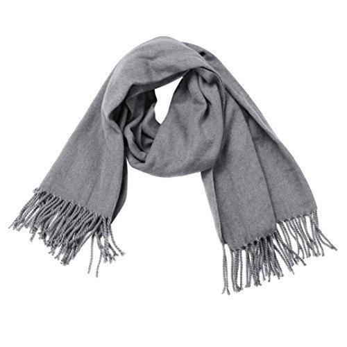 Koly_Inverno caldo delle donne degli uomini di lana lungo grande involucro Sciarpa (Gary)