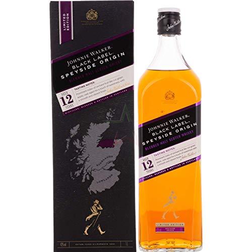 Johnnie Walker BLACK LABEL 12 Years Old SPEYSIDE ORIGIN Limited Edition  Whisky (1 x 1 l)