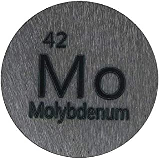 Sponsored Ad - Molybdenum (Mo) 24.26mm Metal Disc 99.95% Pure for Collection or Experiments