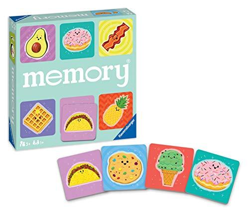 Ravensburger 20357 4 Foodie Favorites Memory Game for Boy amp Girls Age 3 amp Up  A Fun amp Fast Food Matching Game