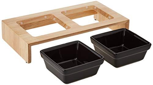 Trixie Napf-Set Keramik/Holz 2 x 0,2 l - 2