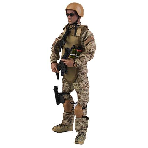 Homyl 1/6 Esercito Combat Swat Soldato Action Figure Soldato Figure Di Polizia Giocattolo NB01A