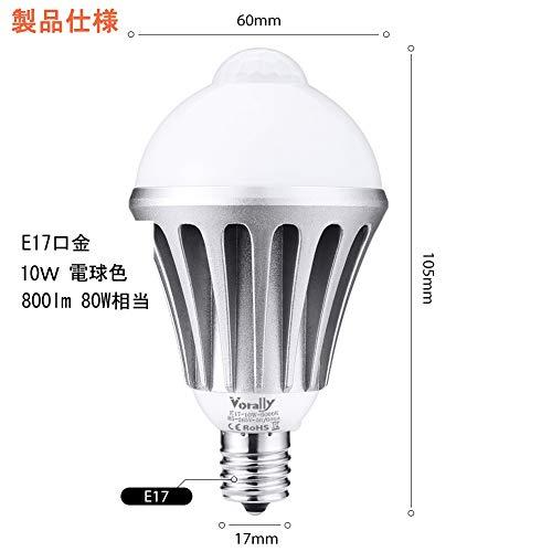 Vorally『センサー電球(GW-E17-10W-CW)』