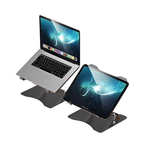 Soporte para Portátil De Altura Ajustable, Juego De 2 Soporte para Portátil Ventilado De Aleación De Aluminio Ergonómico Plegable para Tabletas MacBook Pro Air iPad Portátil