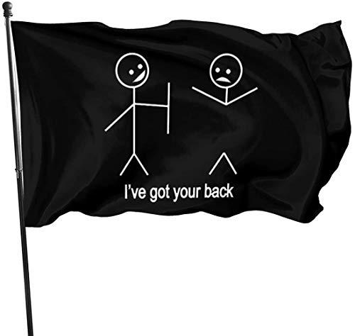 Viplili Strichmännchen Ich Habe Ihre Gartenflagge Banner Flagge für innen/außen 3 x 5