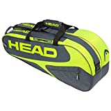 Head Elite 12R Monstercombi Bolsa de Tenis, Adultos Unisex, Gris/Neon Amarillo