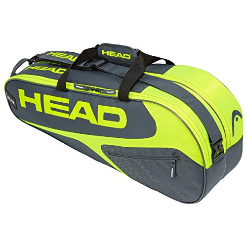 Head Elite 9R Supercombi, Borsa per Racchetta Unisex Adulto, Grey/Neon Yellow