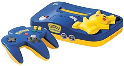 Nintendo 64 System - Video Game Console - Pikachu Version (Renewed)