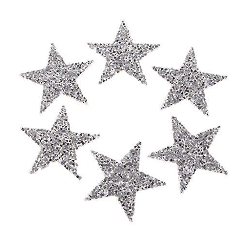 Fenteer Pegatina de Secado de Ropa de Estrella de 6 Piezas, Accesorios para Manualidades DIY