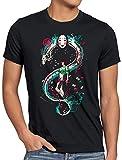 style3 La Aventura de Chihiro Camiseta para Hombre T-Shirt Spirited Away sin Rostro, Talla:2XL