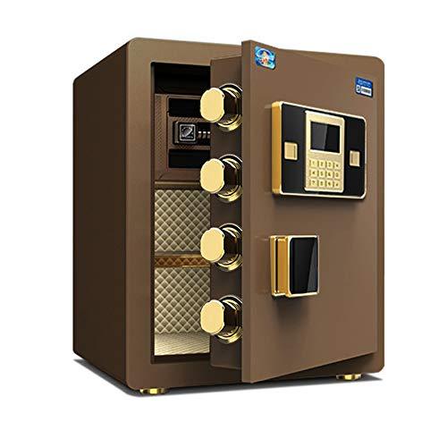 ReedG Caja de Seguridad Seguridad de Acero Caja de Seguridad con Teclado Digital for Office Hogar y Hoteles de joyería Tienda Cash para Casa (Color : Coffee, Size : 38x33x45cm)