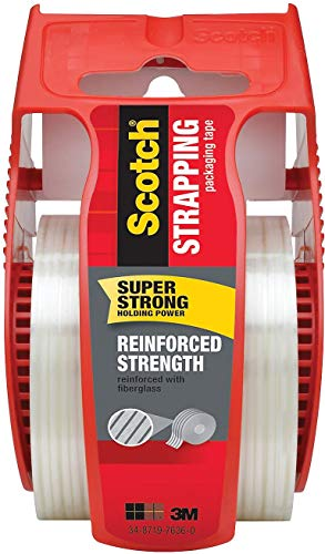 Scotch 824250 Reinforced Strength Shipping Strapping Tape with Dispenser