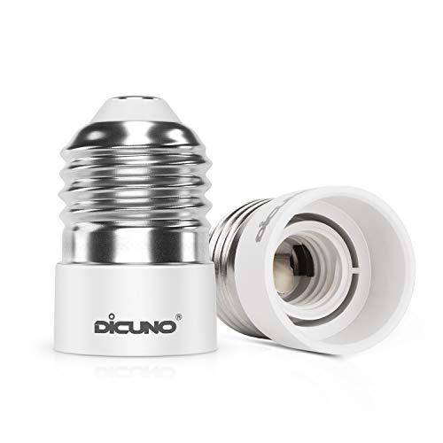 DiCUNO 2-Pack E27 a E14 Socket Converter Socket Adapter Adattatore di base per lampada di alta qualità per lampadine a LED e lampadine a incandescenza e lampadine CFL