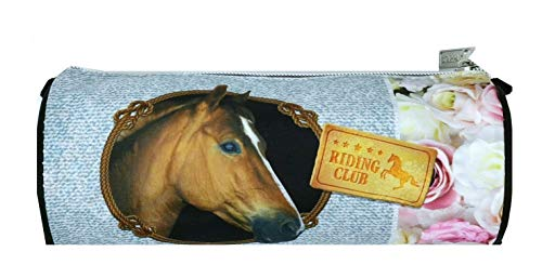 Theonoi Motiv Pferd - I Love Horses - Kinder Federmäppchen / Federmappe / Schlamperetui / Federtasche / Etui Geschenk zum Schulanfang Schultüte (Pferd A1)