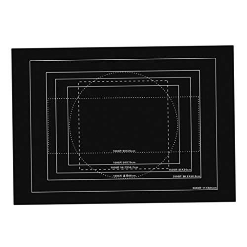HomeDecTime Spielmatte Rolle Puzzlematte Spielteppich Krabbelmatte Schutzmatte - Schwarz, 3000