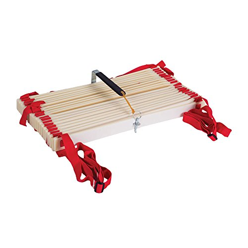 Power Systems Pro Adjustable Slat Agility Ladder Kit, Includes Two 15-Foot x 20 Inch Connectable Ladders, Red/White (30650)