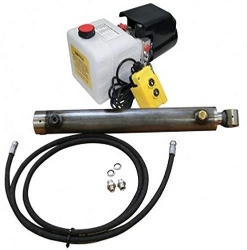 Flowfit Hidráulico 12VDC sencillo actuando remolque kit para elevador 2.5 Tonelada, 400mm movimiento del cilindro
