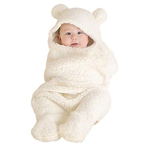 Janday ベビーおくるみ ベビー寝袋 あったかい ふわふわ 抱っこ布団 赤ちゃんの寝袋 布団 柔らかく記念撮影 出産準備 出産祝い