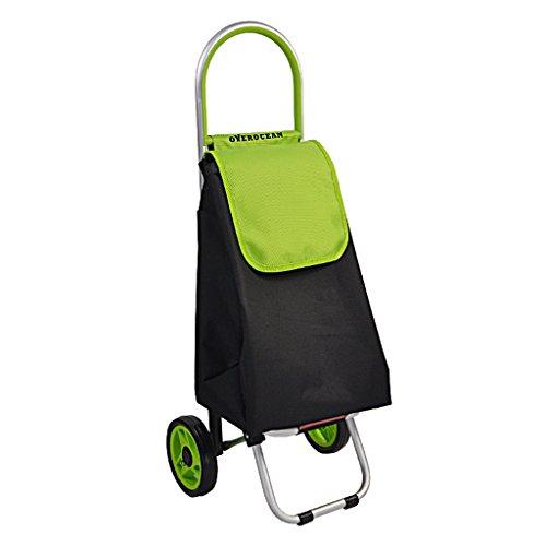 Trolley per la spesa Carrello della spesa pieghevole Carrello della spesa per gli anziani Carrello per i bagagli all'aperto Salita sulle scale Carrello per la spesa portatile può sopportare 30 kg Dare