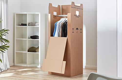 3 x Kleiderbox mit Stange - 3