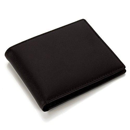 Lackingone RFID Portafoglio Uomo Borsa Uomo di Pelle Portafoglio con Porta Carta di Credito Marrone Classico e Sottile Minimalista