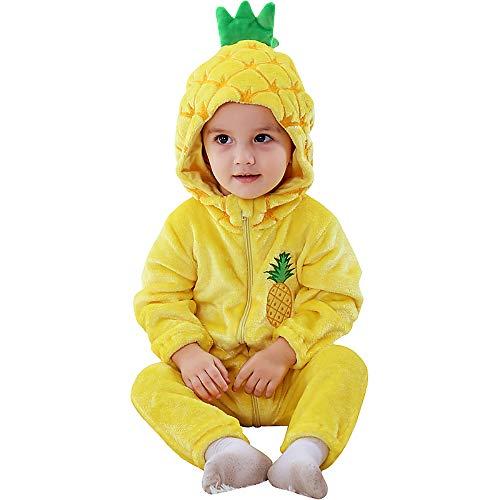 Katara Pijama Bebé Invierno Disfraz Animal (10+ modelos), color piña amarilla, 6-12 meses (1778) , color/modelo surtido