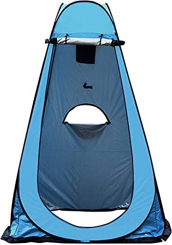 JQAM Carpa de privacidad portátil para Ducha emergente, recinto de Inodoro de Camping, Refugio de Lluvia con Tres Ventanas para Cambiar al Aire Libre, bañarse, Pescar (Color : Blue)
