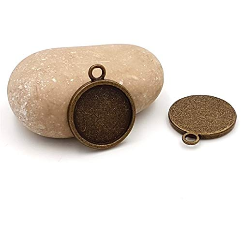 Creafirm - Bandeja redonda (20 unidades, 20 mm), color bronce