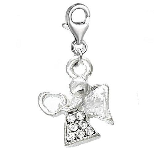 Sexy Sparkles Damen-Engel-Clip-On für Armband, Charm-Anhänger, Schmuck mit Karabinerverschluss