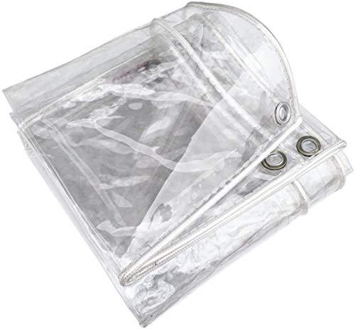 Lona Transparente,Toldo Lona Alquitranada Tela para Jardín Impermeable Anti Congelación Película Impermeable A Prueba De Lluvia Toldo De Aislamiento Cubierta De Plástico 0.35mm(1.5*4m(4.9*13.1ft))