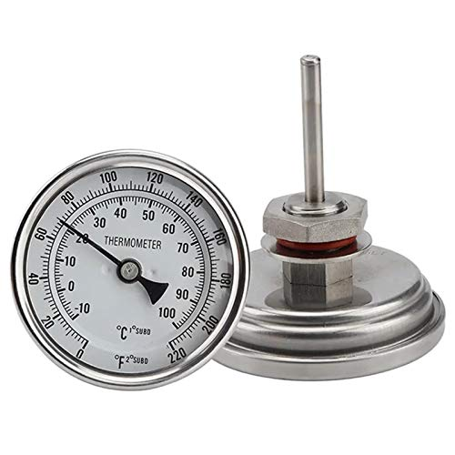 Homebrewing Beewing Brewing Thermomètre de vin Sans Weldless Bi-Metal Thermomètre Kit 3\