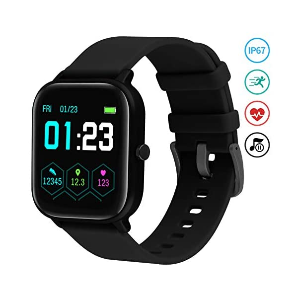 Smartwatch Mujer,Relojes Inteligentes Hombre para Android,Pulsera Actividad Inteligente de 1.3 Pulgada con Monitor de… 2