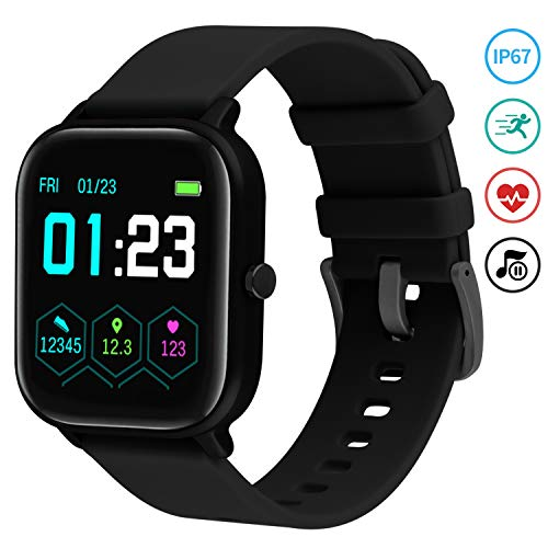 Smartwatch Mujer,Relojes Inteligentes Hombre para Android,Pulsera Actividad Inteligente de 1.3 Pulgada con Monitor de… 1