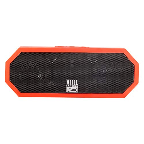 Altec Lansing iMW457 Jacket H2O 2 Bluetooth Speaker, IP67 Waterproof, Shockproof and Snowproof Rated and it FLOATS Rating, 8 Hours of Battery, Deep Red