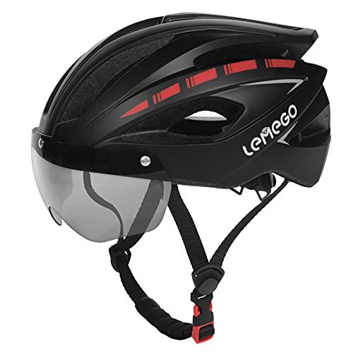 Adults Bike Helmet for Men Women, LEMEGO Lightweight Bicycle Helmet with Detachable Magnetic Goggles...