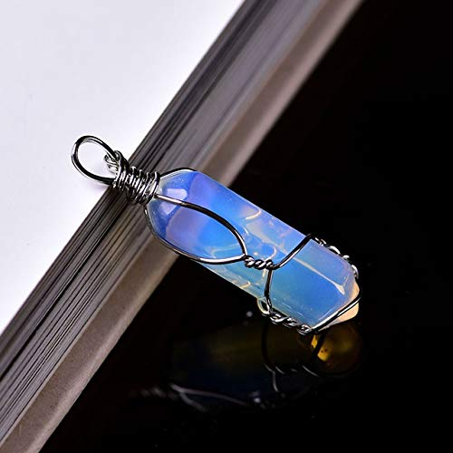 Las piedras naturales 1PC cristal natural aumentó de cristal de cuarzo de puntos colgante joyería de cuarzo mineral moderna decoración del hogar par collar regalo de la joyería La terapia de Reiki