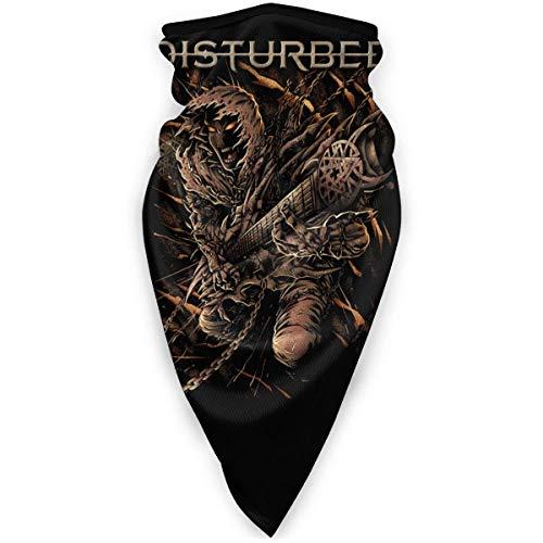 ONLED Disturbed Face Cover Winddichte Sportmaske Multifunktionstuch Bandana Kopfbedeckung Schlauchmaske Outdoor Sturmhaube Schwarz Hijab Schals für Frauen