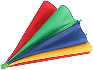 gulalamagic Portable Fishing Camping beach Umbrella Hat Multicolor Cap Sun Rain Umbrella Brand New Hot Selling multicolor