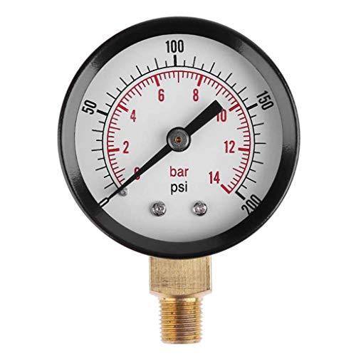 Chowcencen 1/8-Zoll NPT Seitenmontage 0-200psi 0-14bar Kompressor Meter Luftdruck-Manometer Dial-Luftverdichter Meter Hydraulikdruck Tester Messgerät