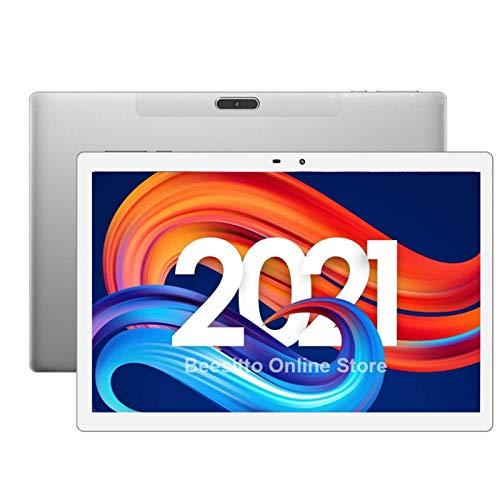YCHCDR 10 Pollici Tablet Deca Core Dual SIM SIM 4G Chiamata telefonica 6 GB RAM 128GB Rom WiFi Bluetooth 1920x1200 IPS Android Tablet PC 10.1 (Color : Black)
