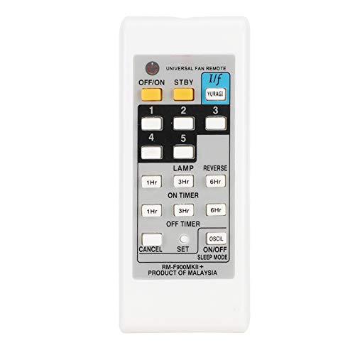 fasient1 Ventilador eléctrico Control Remoto Reemplazo Universal Ventilador eléctrico Control Remoto Apto para KDK ELMARK - Blanco