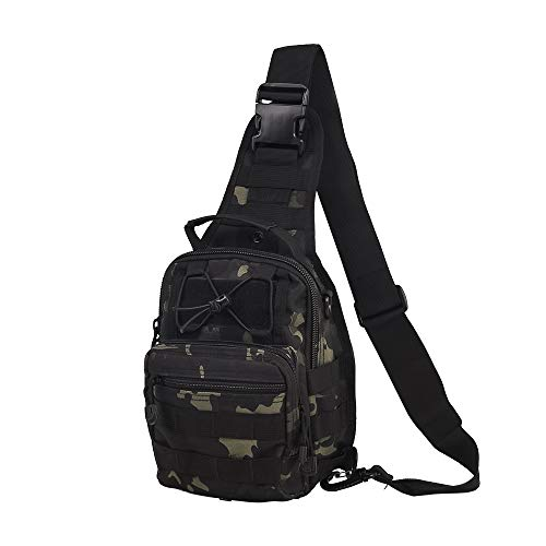 HAOMUK Outdoor Tactical Backpack,Military Sport Bag Pack Shoulder Backpack (Black CP)