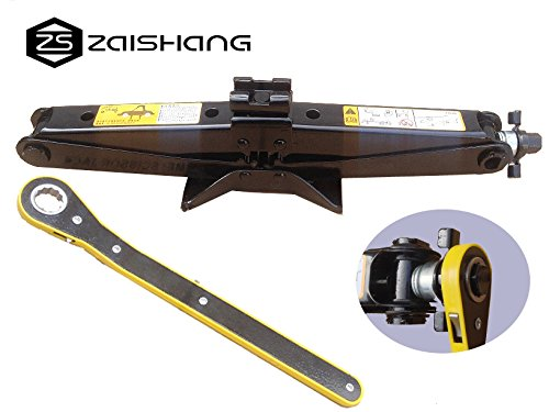 Baoyinengyuan Technology Co,Ltd ZS ZAISHANG - 2 ton 12V elektrische krik (12 cm-42 cm) + slagmoersleutel krik kit Max Height: 420 mm Zwart - Scissor Jack