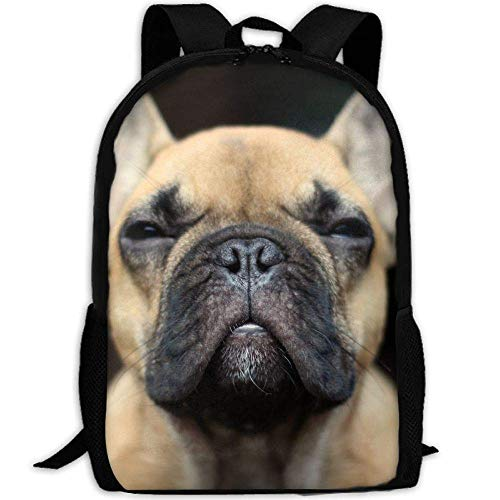 best& Vintage Dogs and Bulldog Puppies College Laptop Backpack Student School Bookbag Rucksack Travel Daypack