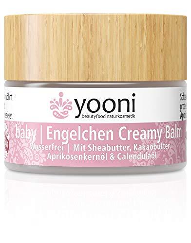 Yooni Baby Engelchen Creamy Balm | Wasserfrei | Schutz, Pflege & Feuchtigkeit für trockene Babyhaut | Mit Sheabutter, Aprikosenkernöl & Calendulaöl | 100% BIO | 100% Vegan | Made in Germany | 15 ml