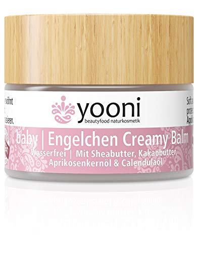 Yooni Baby Engelchen Creamy Balm | Wasserfrei | Schutz, Pflege & Feuchtigkeit für trockene Babyhaut | Mit Sheabutter, Aprikosenkernöl & Calendulaöl | 100% BIO | 100% Vegan | Made in Germany | 15 ml