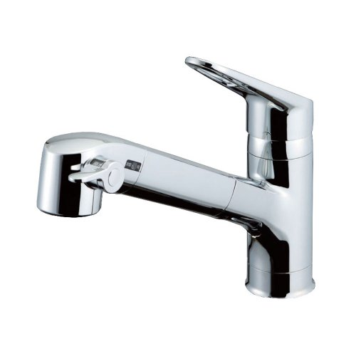 Lixil Inax RJF-771YN Single-Lever Kitchen Sink Combination Faucet with Base & Built-in Filter, Eco-Handle, Water Filter, Precise Flow Control, Extendable Hose, Freeze Preventing Drain Design