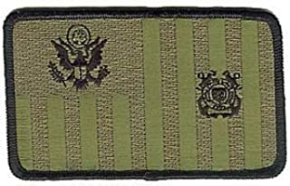 Coast Guard Ensign Subdued Jungle Woodland Green W4844 USCG Coast Guard Patch by HighQ Store